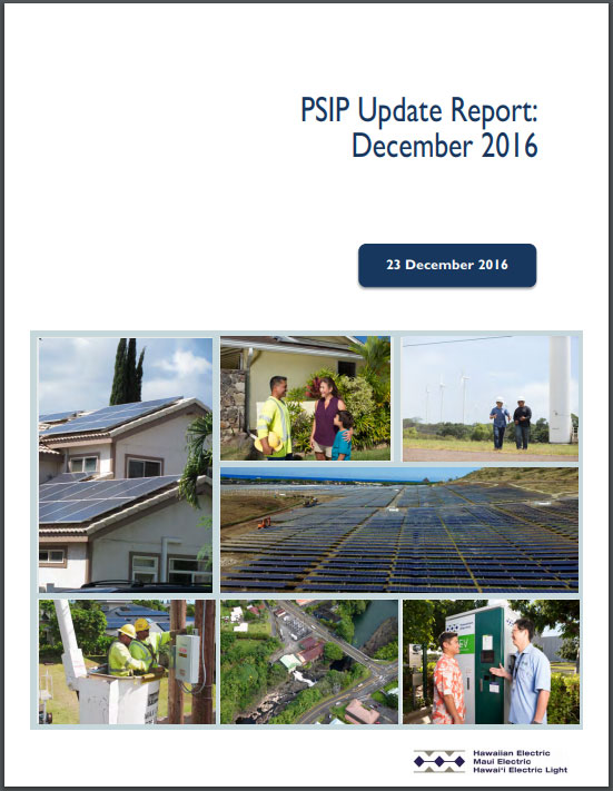 Power Supply Improvement Plans Update Report December 2016 poster