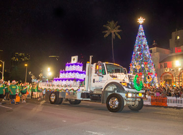 Honolulu City Lights Public Workers Electric Light Parade