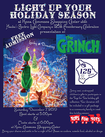 The Grinch Outdoor Movie Night Flyer