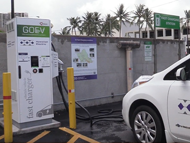 Electric car charging stations oahu